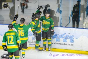 Ratcliffe Celebrates a goal with his teammates