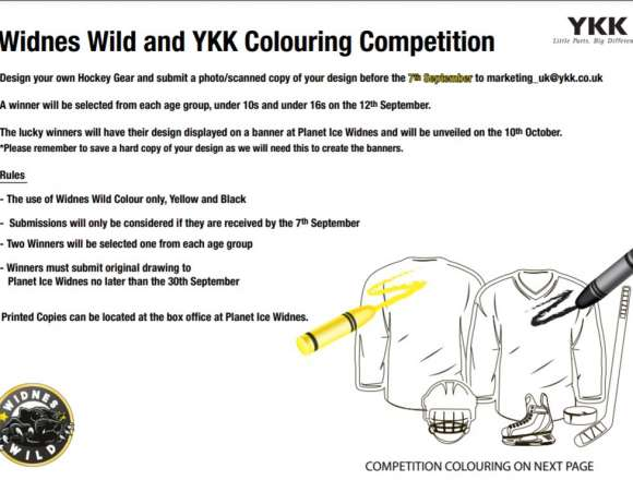 YKK Colouring Competition For Under 16s